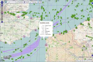 AIS ship positions, ship tracking, satellite tracking, GPRS, SatPro, INTERMAR